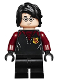 Minifig No: hp176  Name: Harry Potter, Black and Dark Red Uniform