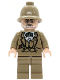 Minifig No: iaj030  Name: Henry Jones Sr. - Dark Tan Pith Helmet