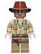 Minifig No: iaj033  Name: Indiana Jones - Open Shirt, Open-Mouth Grin