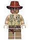 Minifig No: iaj033  Name: Indiana Jones - Open Shirt, Open-Mouth Grin