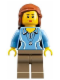 Minifig No: idea010  Name: Research Scientist Female, Medium Blue Top