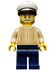 Minifig No: idea032  Name: Captain, Tan Torso, White Cap