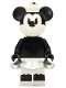 Minifig No: idea050  Name: Minnie Mouse - Grayscale, Steamboat Willie