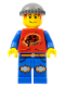 Minifig No: ixs011  Name: Xtreme Stunts Pepper Roni, Dark Bluish Gray Knit Cap