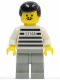 Minifig No: jail001  Name: Police - Jailbreak Joe, Light Gray Legs