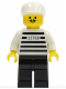 Minifig No: jail003  Name: Police - Jailbreak Joe, Black Legs with White Cap