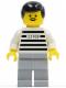 Minifig No: jail004  Name: Police - Jailbreak Joe, Light Bluish Gray Legs (Reissue)