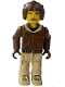 Minifig No: js008  Name: Aviator, Tan Pants and Brown Jacket