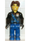 Minifig No: js009  Name: Jack Stone - Black Jacket, Blue Legs, Blue Sash