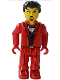 Minifig No: js011  Name: Bank Robber with Red Legs and Black Hair