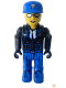 Minifig No: js012  Name: Police - Blue Legs, Black Jacket, Blue Cap with Star, Sunglasses