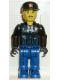 Minifig No: js016  Name: Police - Blue Legs, Black Jacket, Black Cap with Star