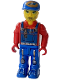 Minifig No: js022  Name: Crewman with Blue Overalls, Red Shirt