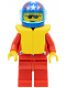 Minifig No: jstr001  Name: Jacket 2 Stars Red - Red Legs, Blue Helmet 4 Stars & Stripes, Trans-Light Blue Visor, Life Jacket
