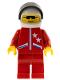 Minifig No: jstr007  Name: Jacket 2 Stars Red - Red Legs, White Helmet, Black Visor
