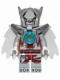 Minifig No: loc038  Name: Worriz - Flat Silver Armor, Cape