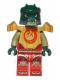 Minifig No: loc092  Name: Cragger - Fire Chi, Heavy Armor