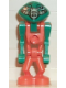 Minifig No: lom002  Name: LoM Martian - Orange Body, Orange Legs