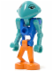 Minifig No: lom018  Name: LoM Martian - Blue Body, Orange Legs