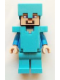 Minifig No: min015  Name: Steve - Medium Azure Helmet and Armor
