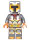 Minifig No: min034  Name: Minecraft Skin 1 - Pixelated, Yellow and Orange Armor