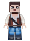 Minifig No: min036  Name: Minecraft Skin 3 - Pixelated, Reddish Brown Vest with Strap and Blue Jeans