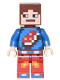 Minifig No: min040  Name: Minecraft Skin 7 - Pixelated, Blue Shirt with Porkchop Icon