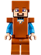 Minifig No: min044  Name: Steve - Dark Orange Helmet, Armor and Legs (21132)