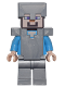 Minifig No: min053  Name: Steve - Flat Silver Helmet, Armor and Legs (21137)