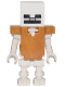 Minifig No: min054  Name: Skeleton with Cube Skull - Pearl Gold Armor (21137)