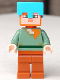 Minifig No: min062  Name: Alex - Medium Azure Helmet, Dark Orange Legs (21142)