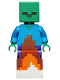 Minifig No: min069  Name: Zombie with Fire Base, Minecraft