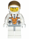 Minifig No: mm007  Name: Mars Mission Astronaut with Helmet and Orange Sunglasses on Forehead, Stubble