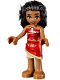 Minifig No: moa001  Name: Moana - Red Skirt, White Flower