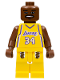 Minifig No: nba022  Name: NBA Shaquille O'Neal, Los Angeles Lakers #34 (Home Uniform)