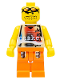 Minifig No: nba033  Name: Basketball Street Player, Tan Torso and Orange Legs