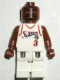 Minifig No: nba037  Name: NBA Allen Iverson, Philadelphia 76ers #3 (White Uniform)