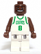 Minifig No: nba040  Name: NBA Antoine Walker, Boston Celtics #8 (White Uniform)
