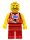 Minifig No: nba044a  Name: NBA player, Number 4 with Red Non-Spring Legs