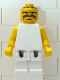 Minifig No: nba052  Name: NBA  Player White Torso, White Legs #3