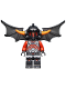 Minifig No: nex065  Name: Ash Attacker - Orange Horns, Wings