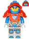 Minifig No: nex073  Name: Clay, Trans-Neon Orange Armor (271712)