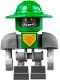 Minifig No: nex103  Name: Aaron Bot - Dark Bluish Gray Shoulders and Green Helmet (70355)