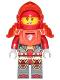 Minifig No: nex119  Name: Macy - Trans Neon Orange Armor and Visor