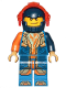 Minifig No: nex134  Name: Clay - Trans-Orange Visor (72004)