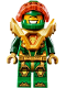 Minifig No: nex136  Name: Aaron - Pearl Gold Armor, Trans Neon Orange Visor
