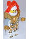 Minifig No: nex141  Name: Lance - Trans-Neon Orange Visor, Pearl Gold Armor