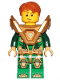 Minifig No: nex144  Name: Aaron - Pearl Gold Armor, Hair