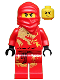 Minifig No: njo009  Name: Kai DX (Dragon eXtreme Suit) - The Golden Weapons