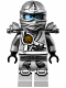 Minifig No: njo111  Name: Zane - Titanium Ninja Light Bluish Gray, Armor